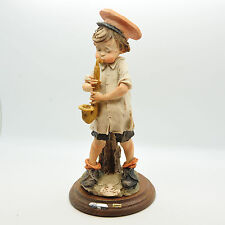 GIUSEPPE ARMANI BOY WITH SAX CAPODIMONTE FIGURINE PIECE