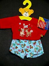 Build A Bear Rudolph Clarice pajama set christmas clothes new pajamas teddy