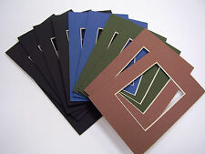 Picture Frame Mat 4x6 for 2.5x3.5 photo or ACEO set if 10 muted assortment