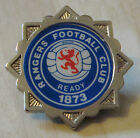 RANGERS vintage 1970s 80s insert type badge Brooch pin in chrome 33mm x 33mm