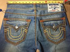 AUTHENTIC NWOT MENS TRUE RELIGION  34x34 MEGA T STRAIGHT JEANS CDXM TRIBAL SONGS