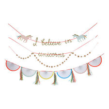 I Believe in Unicorns Paper Garland - Party Bedroom Decoration Bunting Meri Meri