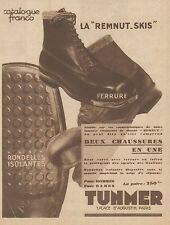 Z8172 TUNMER - La Remnut Skis - Pubblicità d'epoca - 1930 Old advertising