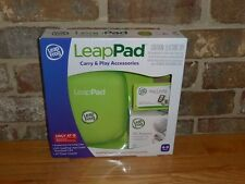 NIB LeapPad LeapFrog Green Carry & Play Accessories Case, Adapter, $20 App Card