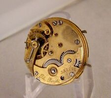 POCKET WATCH MOVEMENT 15 JEWELS AND FANCY DIAL SWISS PH.DORET HUNTER CASE 6s