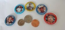 Lot of 5 Vintage1984 FUN FOOD BASEBALL PINBACK BUTTONS
