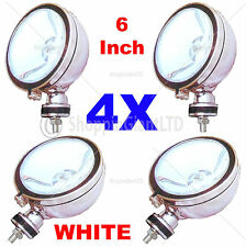 "4X 6"" WHITE Angel Eye Halogen H3 Spotlights Spot Fog Light For Car Van Scooter"