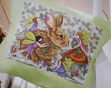 Joan Elliott Bunny and Fairies Counted Cross Stitch Pattern Thistle Clover