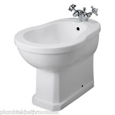 Old London Traditional Richmond Bathroom Ceramic White Bidet NCS830