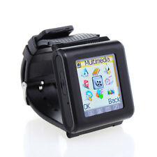 "1.7"" GSM Unlocked AK812 Mobile Phone Watch Touch Screen Mp3/4 Bluetooth Black"