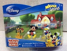 DISNEY CLASSIC MICROWORLD MICKEY MOUSE FRIENDS PAPERINO PLUTO DONALD DUCK SET 3