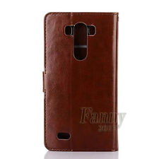 Brown Stand Flip Leather Card Wallet Case Cover for LG G3 LS990 D850 D851 D852