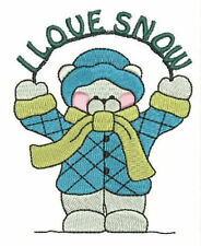 1025:  Machine Embroidery Designs - Snow Bears