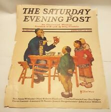 Saturday Evening Post January 14 1928 (cover only) Chinese Painter w/Children