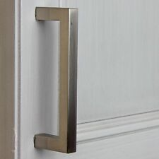 "87226-SN - 3-3/4"" CC Solid Square Cabinet Bar Pull Handle - Satin Nickel"