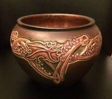 Roseville Pottery Brown Rosecraft Vintage Bowl 607-5