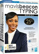 Mavis Beacon Teaches Typing 25 25th Anniversay Deluxe PC New Sealed in Box