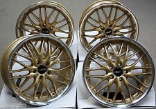 "18"" CRUIZE 190 GOLD ALLOY WHEELS FIT RENAULT LAGUNA MEGANE MK3"