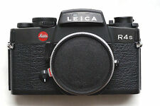 Leica R4S 35mm SLR Film Camera Black Body  Clean