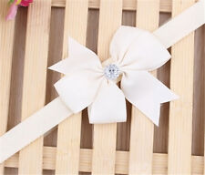 Newborn Kid Headband Infant Toddler Bow Hair Band White Color Girls Bowknot
