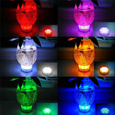 New Noble Colorful Submersible 10 LED RGB Party Vase Light Remote Control Lamp
