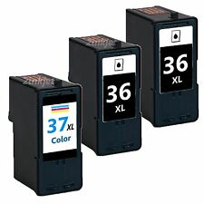 3 Pack 36XL 37XL  Black & Color Ink For Lexmark 36 37 X3650 X4650 X5650