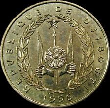 DJIBOUTI, Vintage 1990  50 FRANCS COIN, Extra Fine Circulated, NICE COIN DETAILS