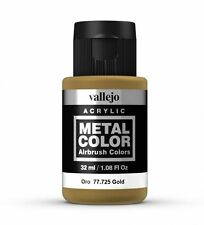 VALLEJO METAL COLORS - AIRBRUSH PAINT - GOLD 32ML - 77.725