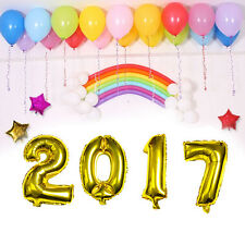 4Pcs 16inch Number 2017 Balloon Foil Ballon For New Year Party Celebration Decor
