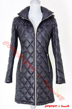 Michael Kors Lightweight Diamond Quilted Hooded Down Puffer Jacket Coat S Black