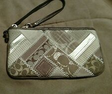 Coach  Signature Patchwork Wallet Wristlet