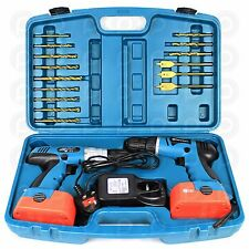 Powerlynx 18V Twin Drill Set Heavy Duty Cordless Hammer Impact Driver