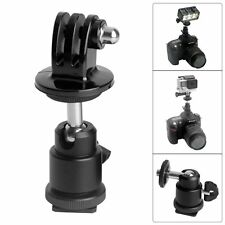 Ball Head Hot Shoe Adapter Mount F Nikon / Canon /Pentax /More DSLR Camera Gopro