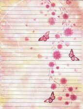 Abstract Butterfly Lined Stationery Set with 25 sheets and 10 envelopes