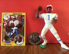 1991 Warren Moon Starting Lineup Loose w/ card & collector coin Houston Oilers