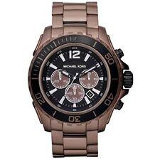 Michael Kors MK8232 DRAKE Herren Chronograph Edelstahl Braun Armbanduhr Datum