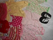 Baby girl clothes carter's 0 3 6 9 18 month and shoes 15 pieses lot bundle set