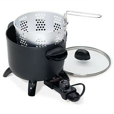 Electric Multi-Cooker Steamer Kettle Non-Stick Deep Fryer Kitchen Steaming Pot