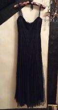 RALPH LAUREN RRL WOMENS LACE SILK LONG BLACK DRESS.  SIZE: UK 4-6    RRP:£850