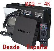 1 MXQ 4K Smart HD TV BOX Android 8G WiFi Media Player XBMC Equipos DLN Amlogic