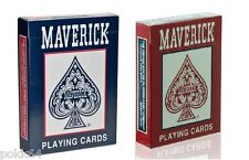 Lot de 2 jeux de 52 cartes POKER MAVERICK 54 cartes Regular Rouge et Bleu 12059