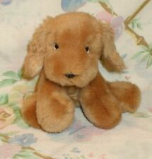 "RUSS BERRIE 5"" PLUSH STUFFED BUFF BLONDE COCKER SPANIEL PUPPY DOG HONEY MINT"