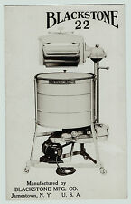 RARE RPPC Advertising Blackstone 22 Washer Washing Machine - Jamestown NY c 1930