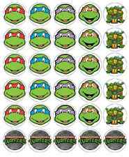 30 x Teenage Mutant Ninja Turtle Cupcake Toppers Edible Fairy Cake Toppers