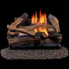 "New 18"" Vent Free 30k BTU Fireplace Log Set Propane or Natural Gas w/Remote SPLT"