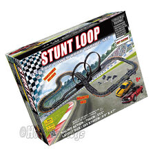 Golden Bright Stunt Loop Electric Power Road Racing Slot Car Set 23' Track 6677