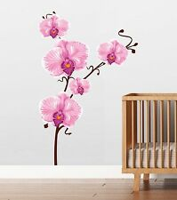 6 Ft. Orchid Large Wall Decal Deco Art Sticker Mural by Digiflare Graphics