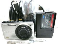Casio Exilim EX-ZR10 12.1 MP digital camera 7x zoom lens *silver *mint *tested