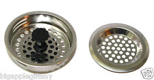 """2 PCS STAINLESS STEEL KITCHEN SINK Strainer and Stopper Set  3"""" Diameter NEW"""