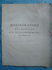 DELIBERATION 1788 : HABITANTS SAINT-JEAN-DE-LOSNE (Côte d'or). 23 pp.